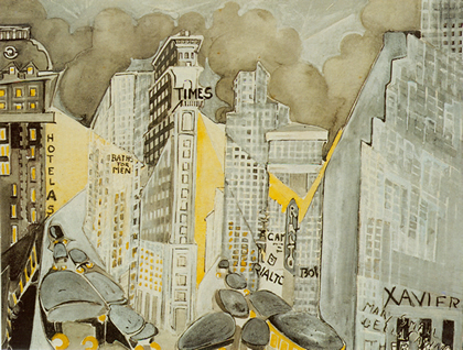 """Times Meydanı, 1944"", Zelda Fitzgerald, 1945"