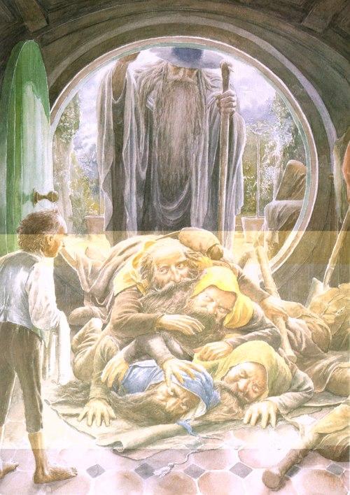 alan lee hobbit cüceler