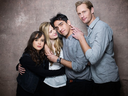 Ellen Page, Brit Marling, Zal Batmanglij ve Alexander Skarsgard; The East'te.