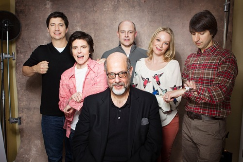 Ken Marino, Tig Notaro, Rob Corddry, Fred Melamed, Alexandra Holden ve Demetri Martin; In a World'de.