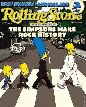 Simpsonlar, Rolling Stone dergisinin kapağında.