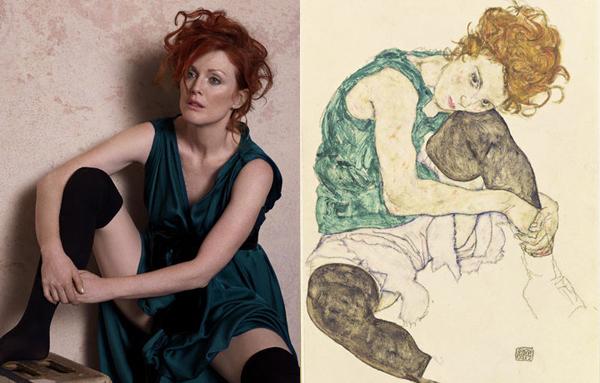 Dizini Bükmüş Oturan Kadın / Egon Schiele