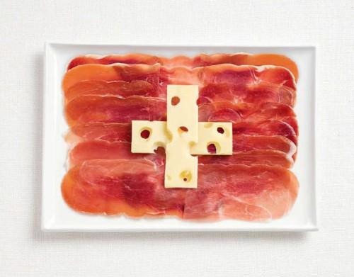 İsviçre; şarküteri etleri ve emmantel peyniri.