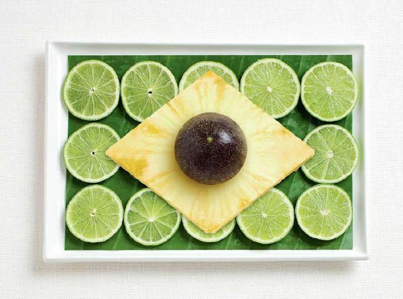 Brezilya; muz yaprağı, lime, ananas ve passion fruit.