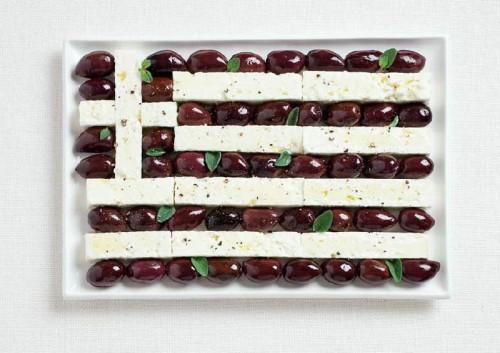 Yunanistan; zeytin ve beyaz peynir.