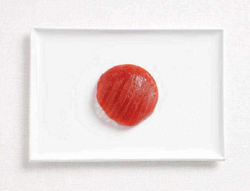 Japonya; ton balıklı suşi.