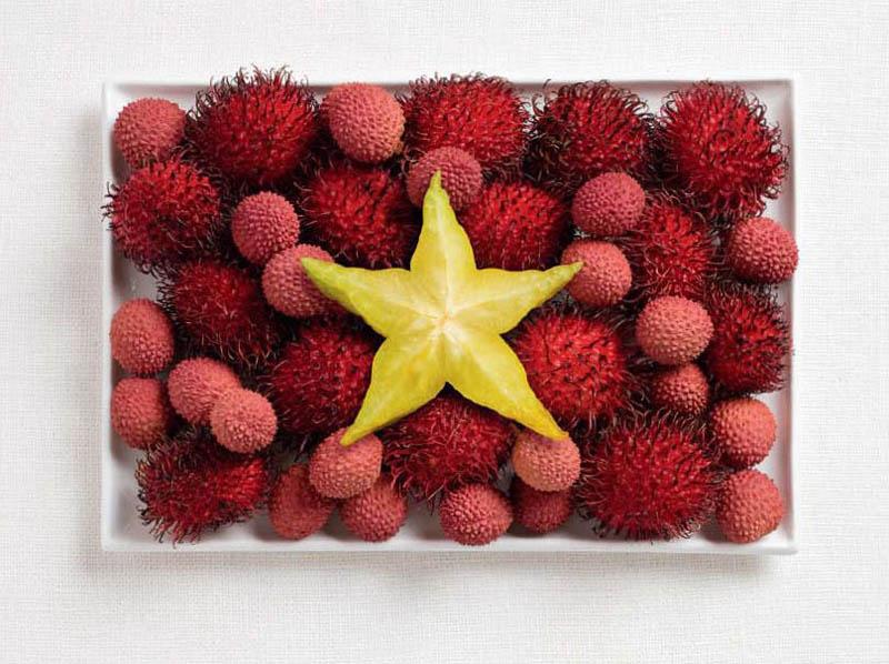 Vietnam; rambutan, lychee ve starfruit.