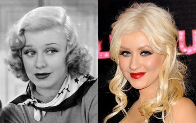 Christina Aguilera ve Oscar Ödüllü oyuncu Ginger Rogers