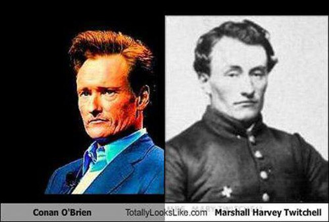 Conan O'Brien and Marshall Henry Twitchell