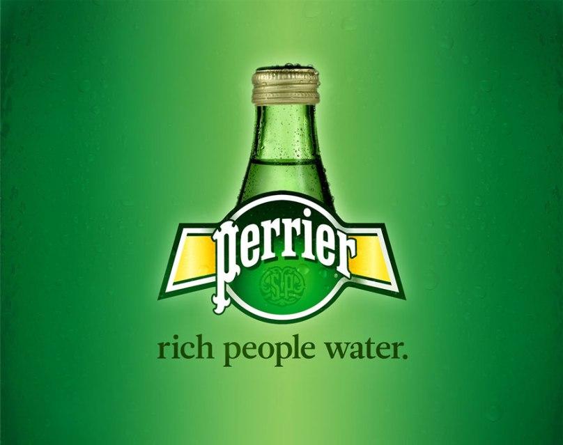 Zengin insanların suyu.