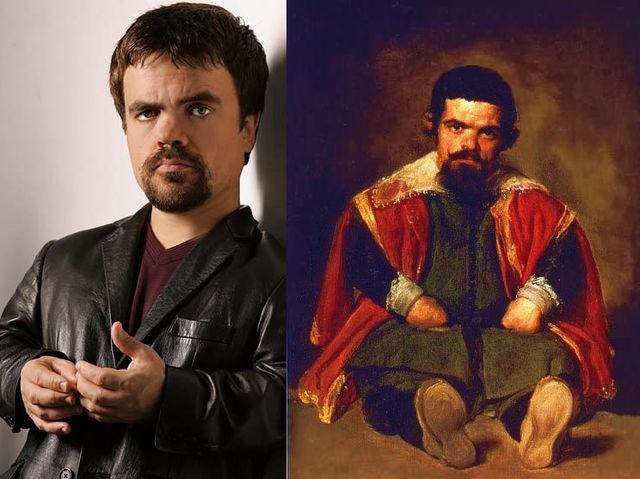 """Peter Dinklage ve Diego Velazquez'in """"Sebastián de Morra'nın Portresi"""" adlı tablosu"""