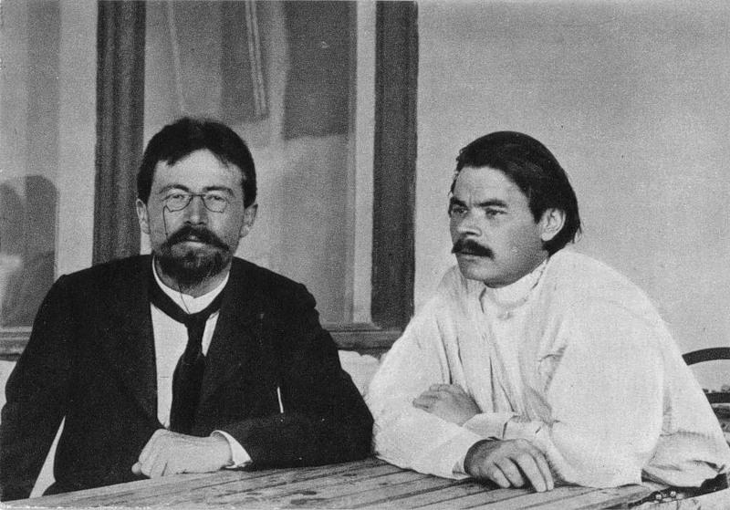 Çehov ve Gorki, Yalta'da (yaklaşık 1900).