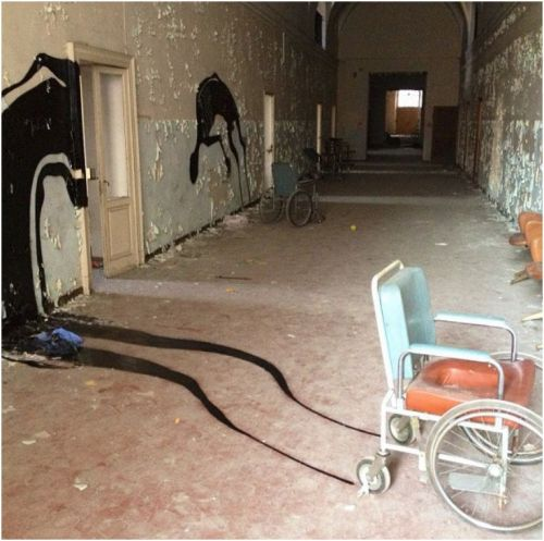 abandoned psychiatric mental hospital parma italy herbert 1000 shadows CHAIR2